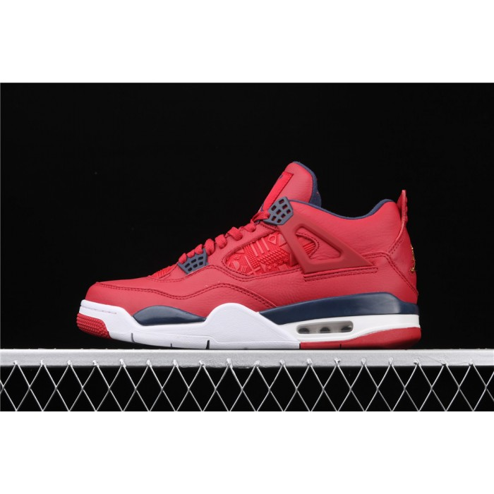 Men's Air Jordan 4 SE FIBA Flight In Red White AJ4 Shoe