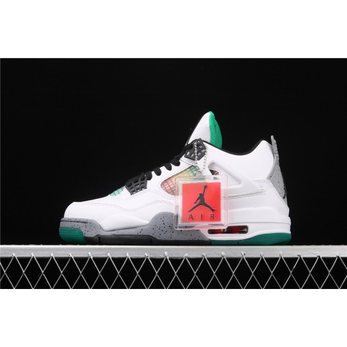 Men's Air Jordan 4 WMNS Do the Right Thing In White Green Gray AJ4 Shoe