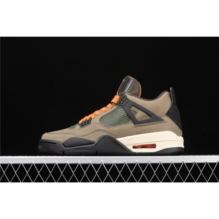 Men's UNDEFEATED x Air Jordan 4 In Brown AJ4 Shoe