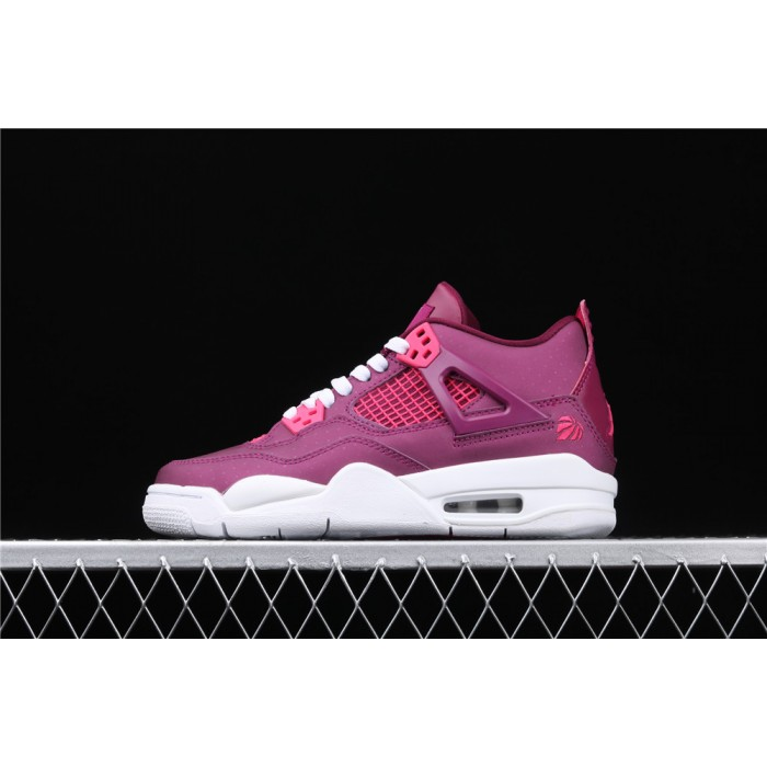 Women's Air Jordan 4 Retro Brand Lover In Purple Red AJ4 Shoe