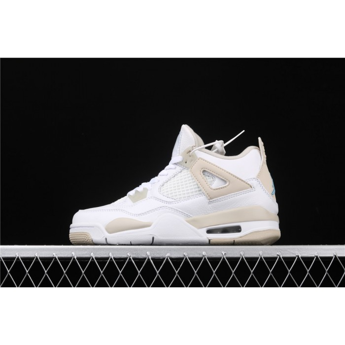 Women's Air Jordan 4 Retro Linen In White Sand AJ4 Shoe