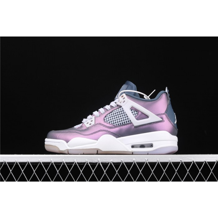 Women's Air Jordan 4 Retro Monsoon In Metal Purple AJ4 Shoe