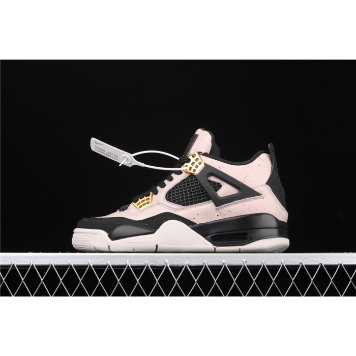 Women's Air Jordan 4 Silt Red Flight In Pink Black AJ4 Shoe