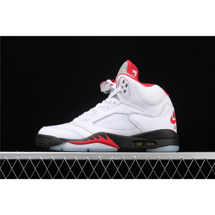 Men's Air Jordan 5 Fire Red Black White AJ5 Shoe