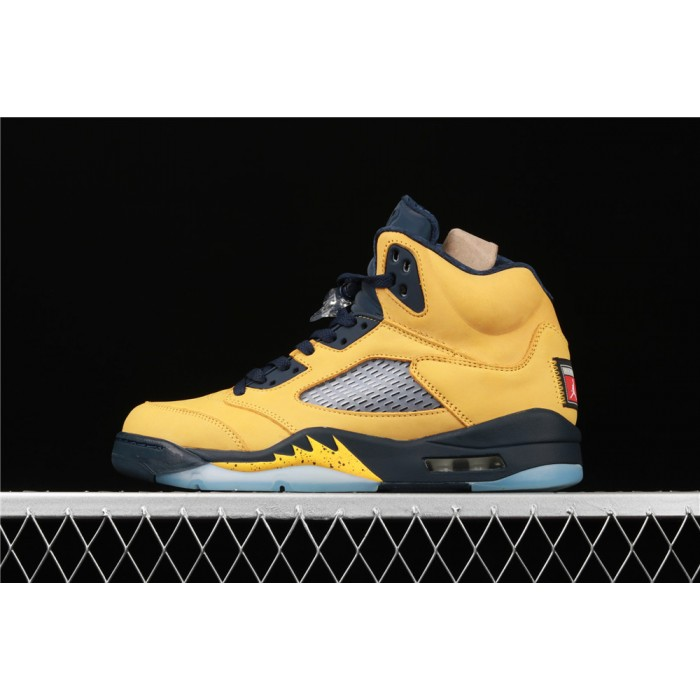 Men's Air Jordan 5 SP Michigan Yellow AJ5 Shoe
