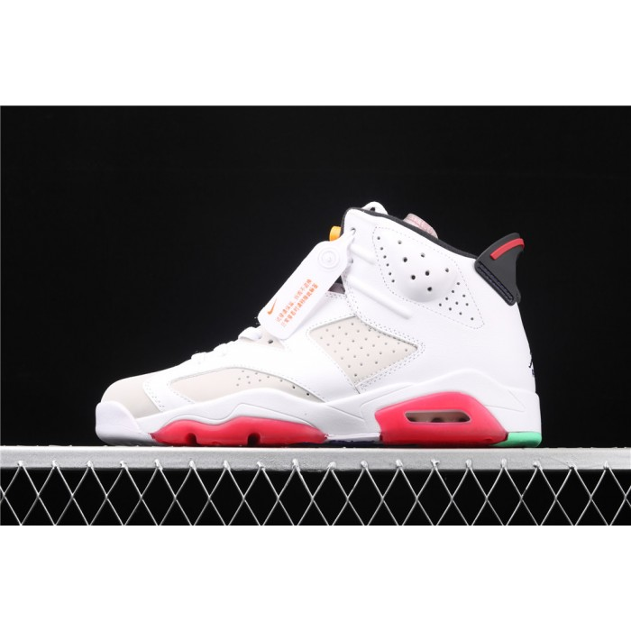 Men's Air Jordan 6 Hare In White Light Gray AJ6 Shoe