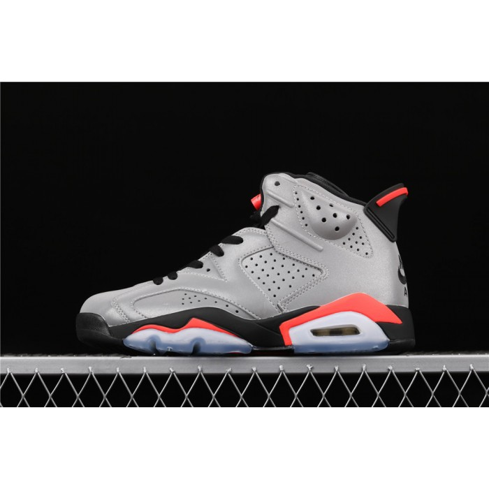 Men's Air Jordan 6 JSP Reflective Silver In Dark Gray AJ6 Shoe