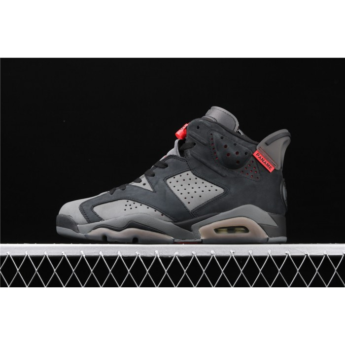 Men's PSG x Air Jordan 6 Retro In Dark Gray AJ6 Shoe