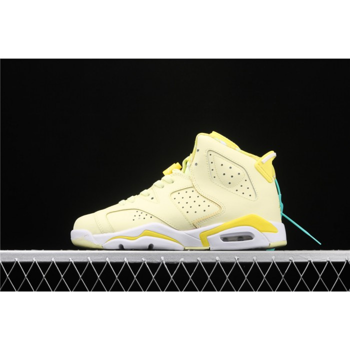 Women's Air Jordan 6 GS In Lemon Yellow AJ6 Shoe