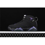 Men's Air Jordan 7 Ray Allen Bucks Black Purple AJ7 Shoes
